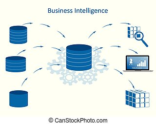 Business Intelligence Concept - infographic