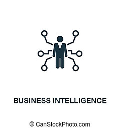 Business Intelligence icon. Premium style design from business management icon collection. Pixel perfect Business Intelligence icon for web design, apps, software, print usage
