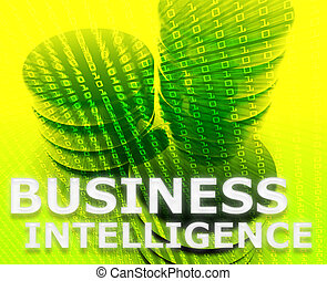 Business intelligence abstract, computer data information concept illustration