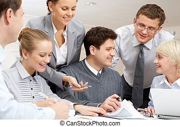 Business interaction - Image of confident businessman...