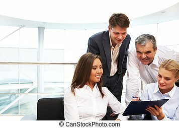 Business interaction - Image of confident manager showing...
