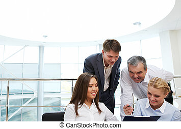 Business interaction - Image of confident manager showing ...