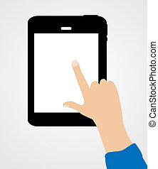 Business Internet for  Different Electronic Devices Concept. Vector Illustration