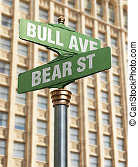 Business Intersection - An old-Fashioned street sign for an...