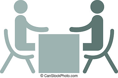 Business interview - Business People Sitting On Chair Facing...