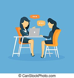 Business interview illustration.