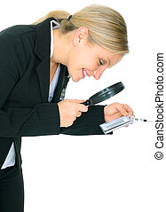 Business Investigator Checking Name Tag