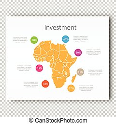 Business Investment Africa Map Presentation slide Template, Business Layout design, Modern Style.