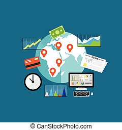 business investment concept illustration. Business growth.