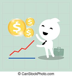 business investment growth concept on graph background
