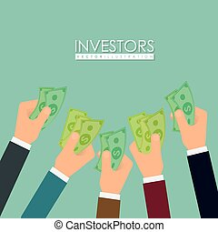 Business investors design, vector illustration eps 10