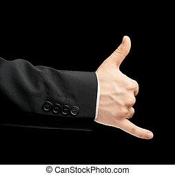 business, isolé, main, complet, mâle, caucasien