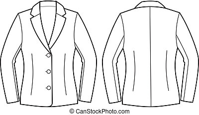 Business jacket - Vector illustration of women's business...