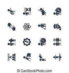 Business, Job and Personal Development Icon Set in Glyph Style