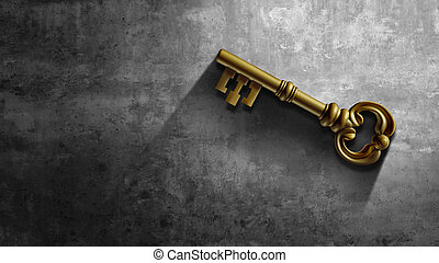 Business Key - Business key as a golden security symbol and ...
