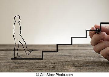 Business ladder concept