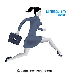Business lady running template