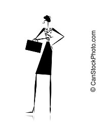 Business lady, silhouette for your design