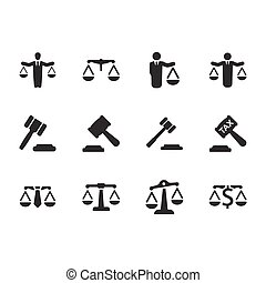 Business Law Icons - Gray Version