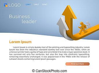 Business leader arrow