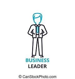 Business leader concept , outline icon, linear sign, thin line pictogram, logo, flat vector, illustration