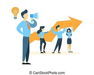 Business leader illustration.