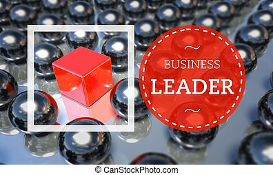 Business leader unique concept illustration
