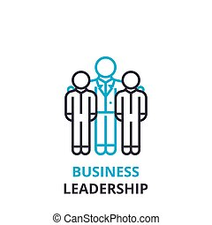 Business leadership concept , outline icon, linear sign, thin line pictogram, logo, flat vector, illustration