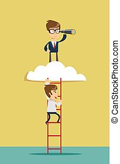 Business leadership vector concept