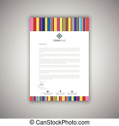 business letterhead with stripes design 1008