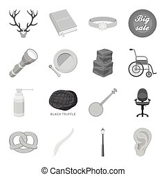 Business, lighting, celebration and other web icon in monochrome style.Medicine,health, education icons in set collection.