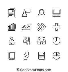 business line Icons set. Vector illustration.