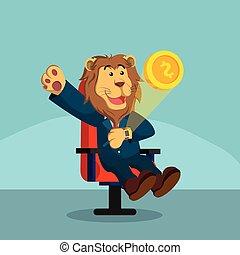business lion smart watch releasing coin