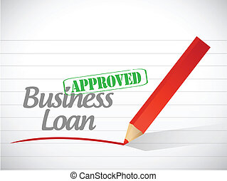 business loan approved message illustration design over a white background