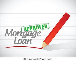 business loan approved stamp illustration