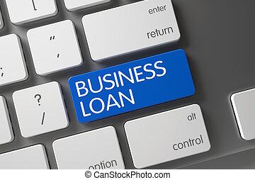 Business Loan Close Up of Keyboard.