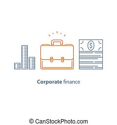 Business loan, company expenses, corporate finance,...