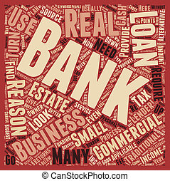 Business Loans 7 Reasons Not To Use A Bank text background wordcloud concept