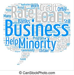 Business Loans For Minorities Get A Good Rate text background word cloud concept