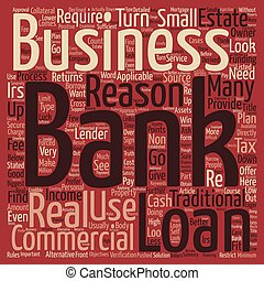 Business Loans Reasons Not To Use A Bank text background wordcloud concept