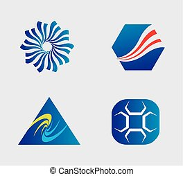 Business logo and Icons Set