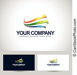 Business Logo Design. Colorful Swashes Vector. Creative...