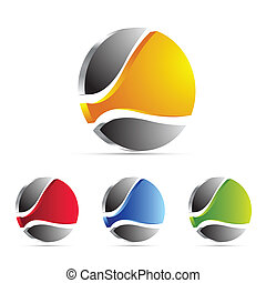 business, logo, icône