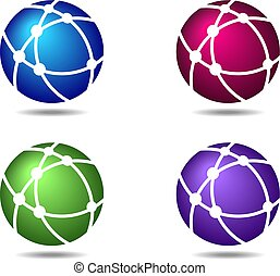 Business Logo Networks Globe Connections Symbols Icons