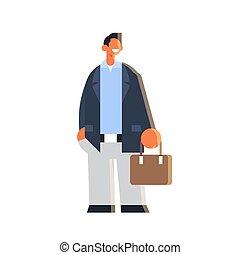 business, longueur, entiers, mâle, tenue, pose, homme ...
