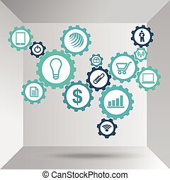 Business Machine Abstract Concept