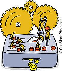 Business machine. Big money machine like a metaphor of...