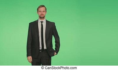 business, maillot, fond, homme, vert, language.