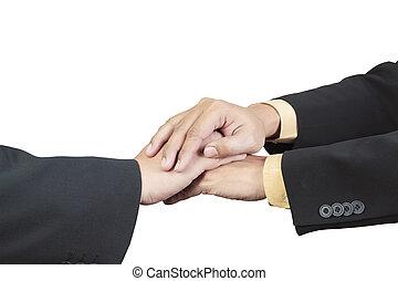 business, main, joint, pour, collaboration, concept