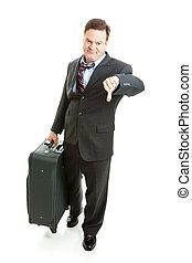 business, malheureux, traveler-